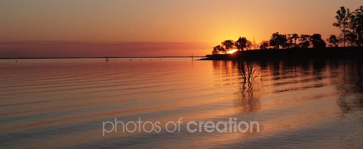 Sunset at Lake Maraboon Qld near Emerald Qld