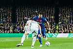 Luis Alberto Suarez Diaz (R) of FC Barcelona competes for the ball with Andreas Christensen of Chelsea FC during the UEFA Champions League 2017-18 Round of 16 (2nd leg) match between FC Barcelona and Chelsea FC at Camp Nou on 14 March 2018 in Barcelona, Spain. Photo by Vicens Gimenez / Power Sport Images