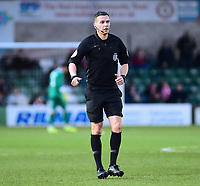 Referee Dean Whitestone<br /> <br /> Photographer Andrew Vaughan/CameraSport<br /> <br /> The Emirates FA Cup Second Round - Lincoln City v Carlisle United - Saturday 1st December 2018 - Sincil Bank - Lincoln<br />  <br /> World Copyright © 2018 CameraSport. All rights reserved. 43 Linden Ave. Countesthorpe. Leicester. England. LE8 5PG - Tel: +44 (0) 116 277 4147 - admin@camerasport.com - www.camerasport.com