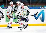 Stockholm 2014-01-18 Ishockey SHL AIK - F&auml;rjestads BK :  <br /> F&auml;rjestads Christian Berglund har gjort 2-0 och har gratulerats av lagkamrater<br /> (Foto: Kenta J&ouml;nsson) Nyckelord:  jubel gl&auml;dje lycka glad happy