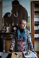 Belgium. Brussels. London. 17th November 2015<br /> Dr. Mietje Germonpr&eacute; photographed in her office at the Royal Belgian Institute of Natural Sciences.<br /> Andrew Testa for the New York Times