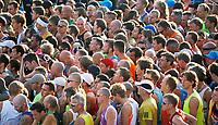 Nederland - Amsterdam - 2017 .  De start van de Marathon van Amsterdam.   Foto Berlinda van Dam / Hollandse Hoogte