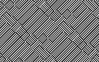 Complex monochrome abstract repeat striped pattern
