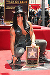 LOS ANGELES - JUL 10: Slash at a ceremony where Slash is honored with the 2,473rd Star on the Hollywood Walk of Fame on July 10, 2012 in Los Angeles, California