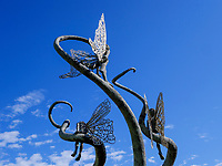 Skulpturen beim Parlament, Kutaisi, Imeretien - Imereti;, Georgien, Europa<br /> sculptures near parliament, Kutaisi,  Inereti,  Georgia, Europe