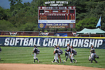 30 MAY 2016: University of Texas-Tyler arrives to the field during the Division III Women's Softball Championship is held at the James I Moyer Sports Complex in Salem, VA.  University of Texas-Tyler defeated Messiah College 7-0 for the national title. Don Petersen/NCAA Photos