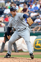 Mariners RHP J.J. Putz in action against the Royals at Kauffman Stadium in Kansas City, Missouri on May 27, 2007.  Seattle won 7-4.