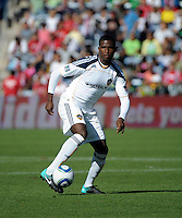 LA Galaxy forward Edson Buddle (14) makes a move.  The LA Galaxy tied the Chicago Fire 1-1 at Toyota Park in Bridgeview, IL on September 4, 2010
