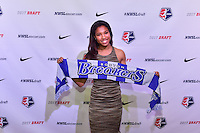 Los Angeles, CA - Thursday January 12, 2017: Margaret Purce during the 2017 NWSL College Draft at JW Marriott Hotel.