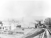D&amp;RG Chama yard looking north showing the eating house and hotel.  Photo taken from coaling trestle.<br /> D&amp;RG  Chama, NM  Taken by Werner, Charles A. - ca. 1905