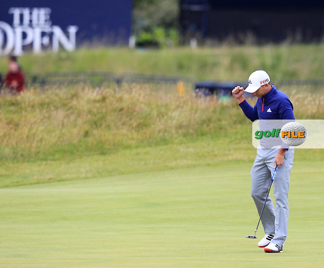 Sergio Garcia (ESP) during the final round on Monday of the 144th Open Championship, St Andrews Old Course, St Andrews, Fife, Scotland. 20/07/2015.<br /> Picture: Golffile | Fran Caffrey<br /> <br /> <br /> All photo usage must carry mandatory copyright credit (&copy; Golffile | Fran Caffrey)