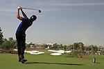 Camilo Villegas tees off on the par3 4th hole during  Day 3 at the Dubai World Championship Golf in Jumeirah, Earth Course, Golf Estates, Dubai  UAE, 21st November 2009 (Photo by Eoin Clarke/GOLFFILE)