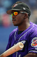 July 7th 2008:  Jose Constanza of the Akron Aeros, Class-AA affiliate of the Cleveland Indians, during a game at NYSEG Stadium in Binghamton, NY.  Photo by:  Mike Janes/Four Seam Images