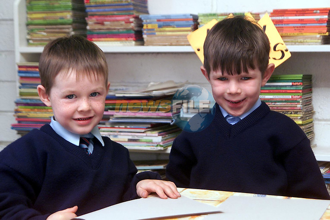 Dean McGovern and Cailean Mullen in Laytown National School..Picture Paul Mohan Newsfile