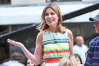 Savannah Guthrie on NBC's Today Show at Rockefeller Center in New York City. August 23, 2012. © RW/MediaPunch Inc.