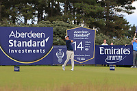 Nino Bertasio (ITA) on the 14th during Round 2 of the Aberdeen Standard Investments Scottish Open 2019 at The Renaissance Club, North Berwick, Scotland on Friday 12th July 2019.<br /> Picture:  Thos Caffrey / Golffile<br /> <br /> All photos usage must carry mandatory copyright credit (© Golffile | Thos Caffrey)