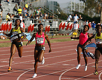 Carmelita Jeter winning the 100m dash in a time of 11.09sec. at the Adidas Track Classic 2009 on Saturday May 16, 2009. Photo by Errol Anderson, The Sporting Image.net