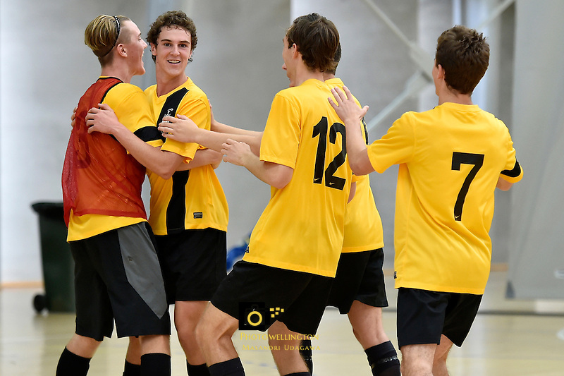 Action from the Futsal - CSW Championships at ASB Sports Centre, Kilbirnie, New Zealand on Saturday 21  March 2015. <br /> Photo by Masanori Udagawa. <br /> www.photowellington.photoshelter.com.