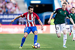Nicolas Gaitan of Atletico de Madrid (L) in action against Carlos Clera Martinez of Osasuna (R) during the La Liga match between Atletico de Madrid vs Osasuna at Estadio Vicente Calderon on 15 April 2017 in Madrid, Spain. Photo by Diego Gonzalez Souto / Power Sport Images