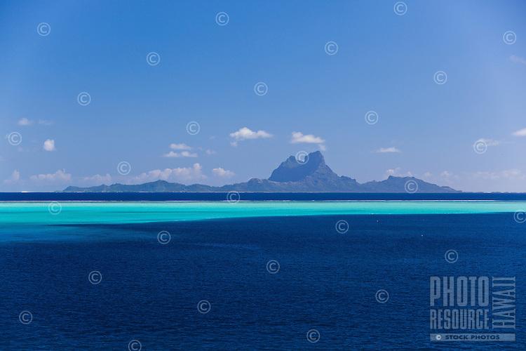 Bora Bora seen from lagoon