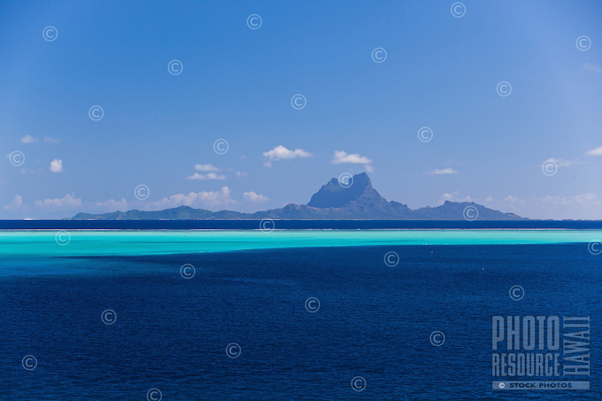 Bora Bora seen from lagoon