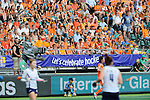 The Hague, Netherlands, June 09: During the field hockey group match (Women - Group A) between The Netherlands and Korea on June 9, 2014 during the World Cup 2014 at Kyocera Stadium in The Hague, Netherlands. Final score 3-0 (1-0)  (Photo by Dirk Markgraf / www.265-images.com) *** Local caption ***