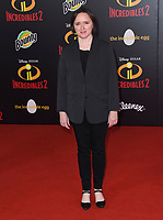 05 June 2018 - Hollywood, California - Sarah Vowell. Disney Pixar's &quot;Incredibles 2&quot; Los Angeles Premiere held at El Capitan Theatre. <br /> CAP/ADM/BT<br /> &copy;BT/ADM/Capital Pictures