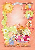 Isabella, BABIES, paintings, red pram, animals(ITKE081685,#B#)