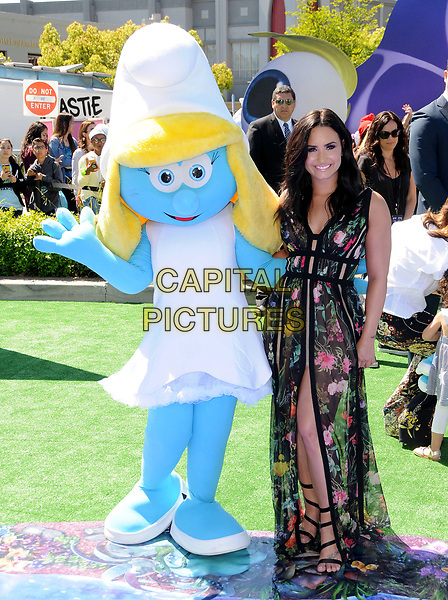 01 April 2017 - Culver City, California - Demi Lovato.  World of Premiere &quot;Smurfs: The Lost Village&quot; held at ArcLight Culver City in Los Angeles. <br /> CAP/ADM/BT<br /> &copy;BT/ADM/Capital Pictures