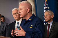 United States Assistant Secretary for Health Admiral Brett P. Giroir speaks during a news briefing on coronavirus at the White House in Washington, DC on Sunday, March 15, 2020.<br /> Credit: Chris Kleponis / Pool via CNP/AdMedia