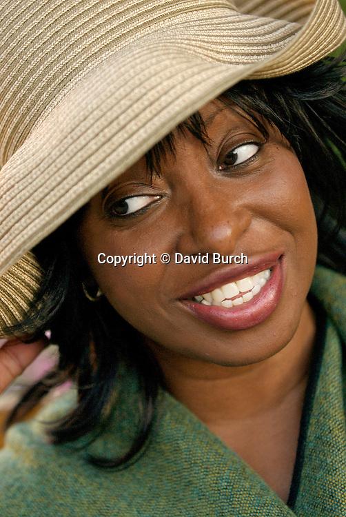 Woman smiling, close-up
