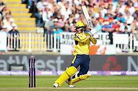 Hampshire's Calvin Dickinson batting <br /> <br /> Photographer Andrew Kearns/CameraSport<br /> <br /> NatWest T20 Blast Semi-Final - Hampshire v Notts Outlaws - Saturday 2nd September 2017 - Edgbaston, Birmingham<br /> <br /> World Copyright &copy; 2017 CameraSport. All rights reserved. 43 Linden Ave. Countesthorpe. Leicester. England. LE8 5PG - Tel: +44 (0) 116 277 4147 - admin@camerasport.com - www.camerasport.com