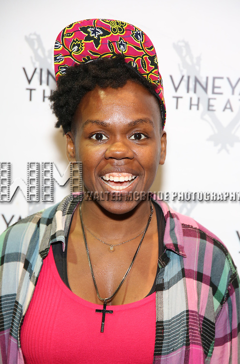 "Ngozi Anyanwu attends the Cast photo call for the Vineyard Theatre production of ""Good Gfief"" on September 12, 2018 at the Vineyard Theatre in New York City."