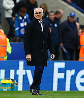 An emotional Leicester City manager Claudio Ranieri at full time during the Barclays Premier League match between Leicester City and Swansea City played at The King Power Stadium, Leicester on 24th April 2016