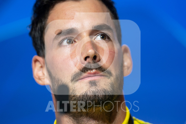 Borussia Dortmund Roman Burki during press conference the day before UEFA Champions League match between Atletico de Madrid and Borussia Dortmund at Wanda Metropolitano in Madrid, Spain.November 05, 2018. (ALTERPHOTOS/Borja B.Hojas)