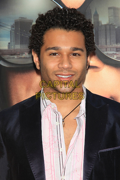 "Corbin Bleu.The Premiere of ""Madea's Witness Protection"" held at AMC Loews Lincoln Square Cinemas, New York, NY., USA..June 25th, 2012.headshot portrait black jacket white shirt stubble facial hair  .CAP/LNC/TOM.©LNC/Capital Pictures."