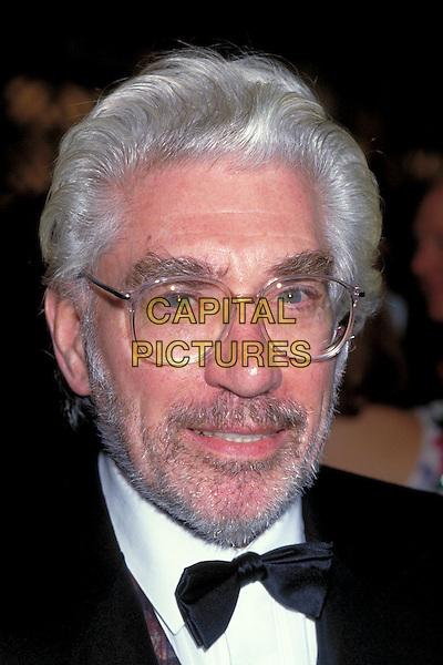 FRANK FINLAY.pre 1997.Ref: 026.headshot portrait white black bow tie glasses beard stubble facial hair.CAP/PL.©Phil Loftus/Capital Pictures.