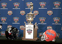 31 December 2009: Sugar Bowl Press Conference at the Marriott Hotel in New Orleans, Louisiana.