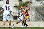 Los Angeles, CA 02/20/10 - \L16\, Alex Demmeno (LMU # 11) and Alex Rice (USC # 20) in action during the USC-Loyola Marymount University MCLA/SLC divisional game at Leavey Field (LMU).  LMU defeated USC 10-7.