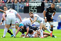 Teddy Iribaren of Brive passes the ball. European Rugby Challenge Cup Quarter Final, between Bath Rugby and CA Brive on April 1, 2017 at the Recreation Ground in Bath, England. Photo by: Patrick Khachfe / Onside Images