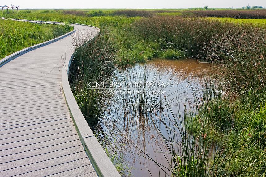 Nature walkway in Sabine National Wildlife Refuge, Louisiana.
