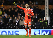 31st October 2017, Craven Cottage, London, England; EFL Championship football, Fulham versus Bristol City; Goalkeeper David Button of Fulham in action