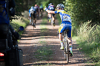 Flat tire for Piet Allegaert (BEL/Sport Vlaanderen-Baloise)<br /> <br /> Dwars door het Hageland (1.1)<br /> 1 Day Race: Aarschot &gt; Diest (194km)