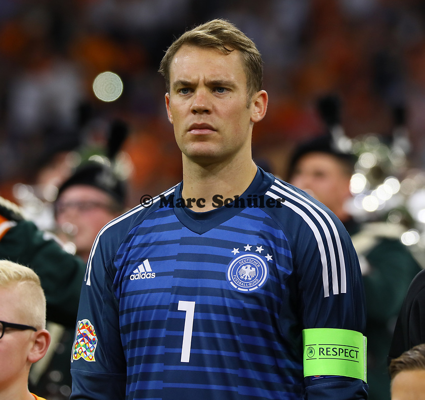 Torwart Manuel Neuer (Deutschland Germany) - 13.10.2018: Niederlande vs. Deutschland, 3. Spieltag UEFA Nations League, Johann Cruijff Arena Amsterdam, DISCLAIMER: DFB regulations prohibit any use of photographs as image sequences and/or quasi-video.