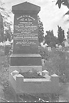 Family headstone showing reference to the soldier buried under the white cross on a French battlefield in World War 1. (see accompanying photo 001a). Grave in Karrakatta Cemetery, Perth, Western Australia.
