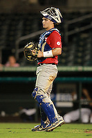 Catcher/First Baseman Joe Altieri (12) of Tampa Jesuit High School participates in the Team One Futures Game East at Roger Dean Stadium in Jupiter, Florida September 25, 2010..  Photo By Mike Janes/Four Seam Images