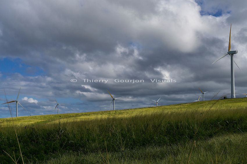 Hawi Wind Farm, Upolu Point,, Big Island, Hawaii. Jan. 2015. Photo by Thierry Gourjon.
