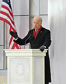 "Washington, DC - January 18, 2009 -- United States Vice President-elect Joseph Biden makes remarks at the ""Today: We are One - The Obama Inaugural Celebration at the Lincoln Memorial"" in Washington, D.C. on Sunday, January 18, 2009..Credit: Ron Sachs / CNP.(RESTRICTION: NO New York or New Jersey Newspapers or newspapers within a 75 mile radius of New York City)"