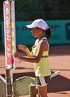 05-08-13, Netherlands, Dordrecht,  TV Desh, Tennis, NJK, National Junior Tennis Championships, Lotte Halden  Charlize Bernardus<br /> <br /> <br /> Photo: Henk Koster