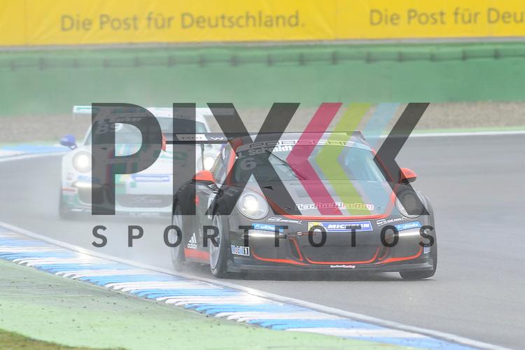 # 6 Jeffrey Schmidt (CHE) vom Lechner Motorsport  beim Porsche Carerra Cup Deutschland auf dem Hockenheimring.<br /> <br /> Foto &copy; P-I-X.org *** Foto ist honorarpflichtig! *** Auf Anfrage in hoeherer Qualitaet/Aufloesung. Belegexemplar erbeten. Veroeffentlichung ausschliesslich fuer journalistisch-publizistische Zwecke. For editorial use only.